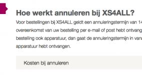 Consumentenrecht voor XS4ALL